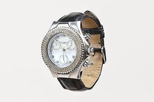 TechnoMarine Technomarine Stainless Steel Techno Diamond Alligator Chronograph Watch