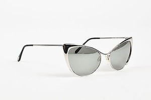 Tom Ford Tom Ford Silver Tone Mirrored Cat Eye Nastasya Sunglasses