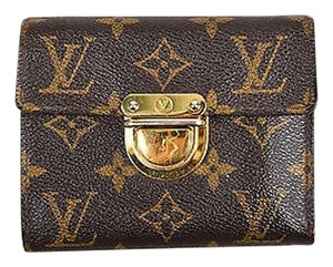 Louis Vuitton Louis Vuitton Brown Tan Coated Canvas Monogram Koala Compact Wallet