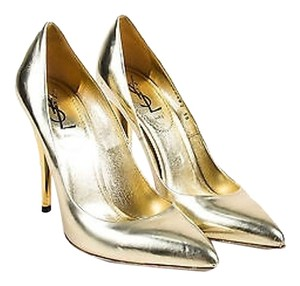 Saint Laurent Yves Gold Pumps