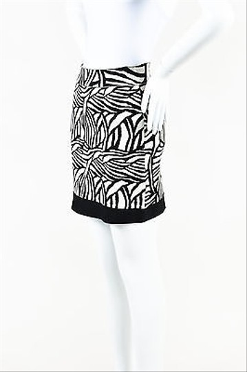 0a87a74e30313 Venezia by Lane Bryant Herve Leger Black White Stretch Knit Printed Galena  Bodycon Mini Skirt 70