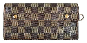 Louis Vuitton Louis Vuitton Brown Damier Ebene Coated Canvas Accordeon Wallet