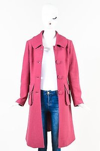 Chloé Chloe Wool Collared Long Pea Coat
