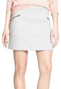 Hinge Nordstrom Quilted Fall Zip Skirt grey