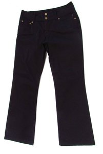 Pure Color Boot Cut Boot Cut Pants Black