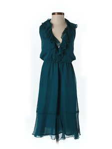 Teal Maxi Dress by Amanda Uprichard Silk Chiffon Ruffle