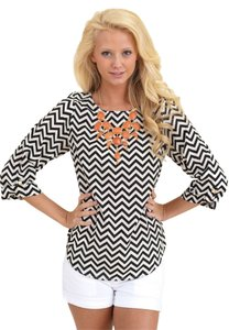 Everly Top Black/White