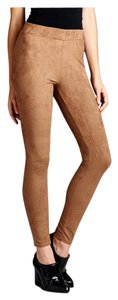 Suede Curvy Plus Size Camel Leggings