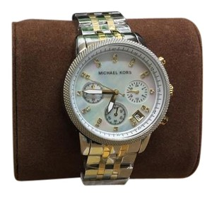 Michael Kors Michael Kors Watches Two-Tone Chronograph with Stones Mk5057