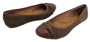 Clarks Size 9.00 M Leather Brown Flats