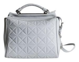 3.1 Phillip Lim Small Ryder Geometric Stamped Purse Satchel in White