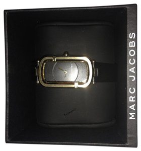Marc Jacobs Monogram Goldtone Stainless Steel & Leather Strap Watch