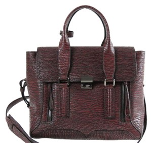 3.1 Phillip Lim Satchel in Black-Maroon