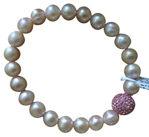 Macy's Pink Cultured Freshwater Pearls and Pink Crystal Bead Bracelet