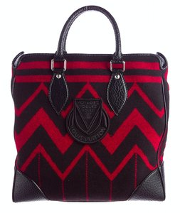 Louis Vuitton Winter Blanket Aztec Boho Indian Tote in Red Black