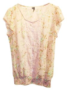 Maurices Pink Lace Floral Top