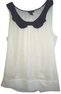 Bob Mackie Rayon Silk New Free Shipping Top OFF WHITE / BLACK