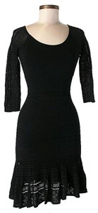 Catherine Malandrino Crochet Detail Dress