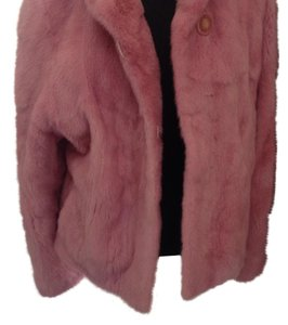 Pink mink Fur Coat