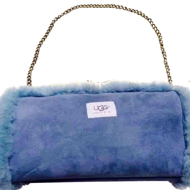 Item - Blue Sheepskin Leather Shoulder Bag