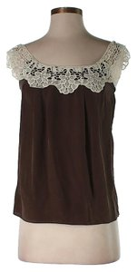 MILLY Crochet Top Brown