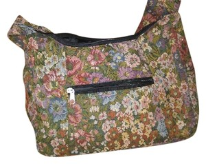 Flowers Pink Flowers Shoulder Bag