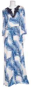 Blue & White Maxi Dress by Tory Burch