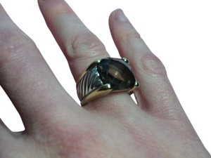 David Yurman David Yurman 14x14 Smoky Quartz carved cable ring
