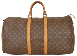 aa43672c19a2 Louis Vuitton Duffle Duffel Gym Keepall Suitcase Brown Travel Bag