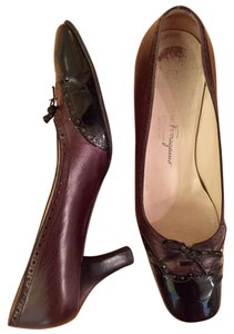 Salvatore Ferragamo Designer Black/brown Pumps