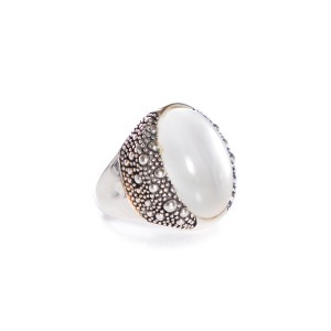 Michael Dawkins Michael Dawkins Sterling Silver & Mother of Pearl Ring