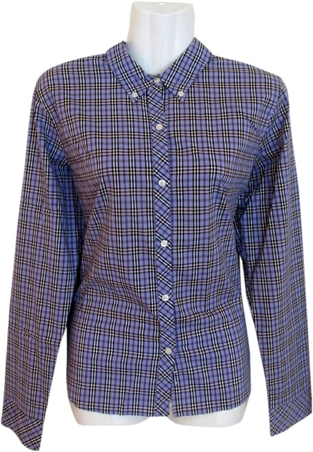 American Eagle Outfitters Plaid Shirt Stretchy Button Down Shirt lavender
