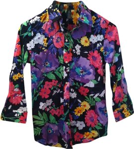 Ralph Lauren Button Down Shirt Floral