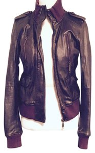 Zara Brow Leather Jacket