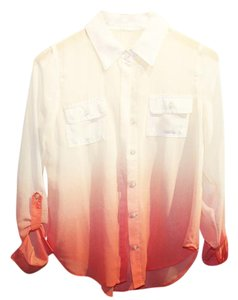 Only Mine Button Down Shirt Long Sleeve Ombre Top