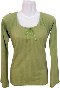 American Eagle Outfitters Longsleeve Ribbon Top green