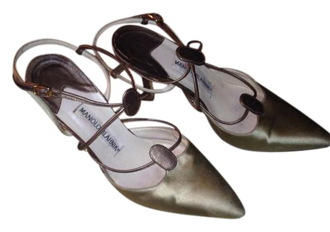 Item - Green and Brown Formal Shoes Size US 6 Regular (M, B)
