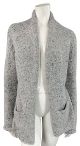 Jil Sander Marble Heather Multi Tonal Salt & Pepper Open Cardigan