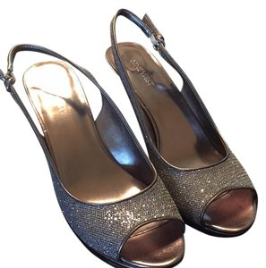 Nine West Silver/Pewter Platforms