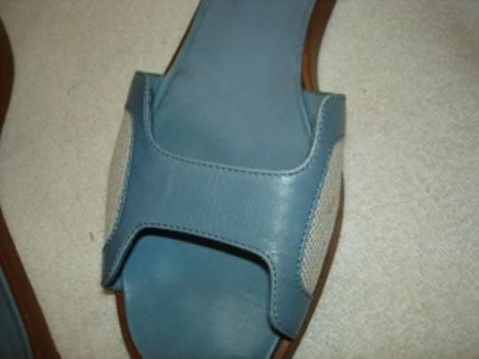 Hermès light blue & TAN Flats