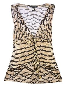 Roberto Cavalli Top Black/Brown