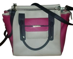 Betsey Johnson Satchel in White Black Pink