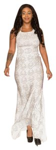 Nonellah Mermaid Casual Vintage Summer Skirt White with silver prints