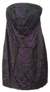 Guess By Marciano Strapless Purple Floral Dress