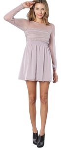 Free People short dress Dusty Lilac on Tradesy