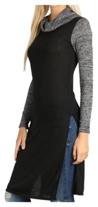 Turtleneck Cowl Neck Tunic