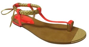 Isola Orange Tangerine Gold Sandals