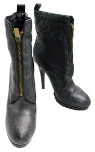 Colin Stuart Bootie Zip Up Fleece Lined Black Boots