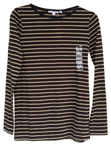 Petit Bateau T Shirt Black and metalic gold