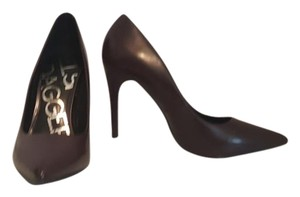 Kelsi Dagger Leather Brown Pumps